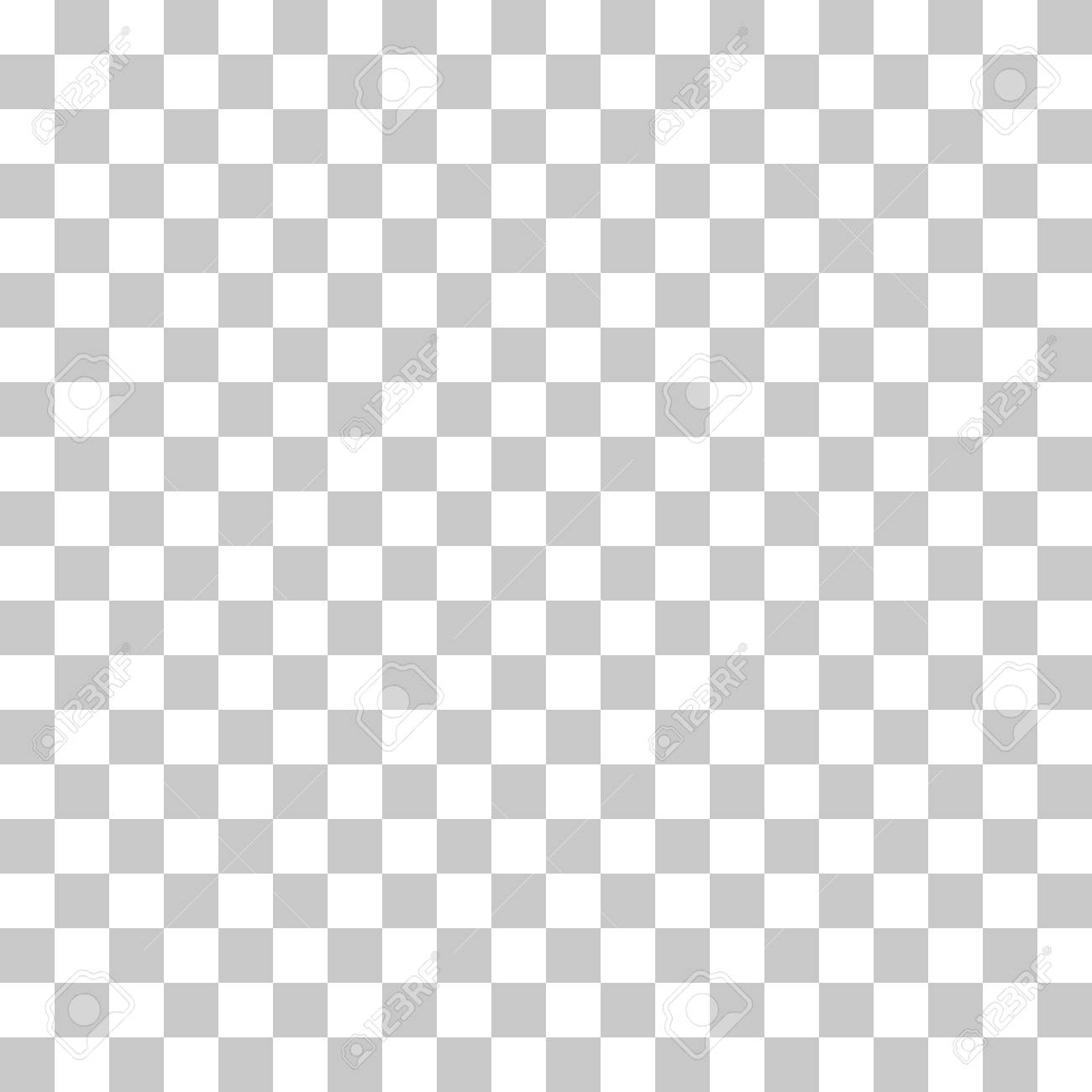 Checkered Pattern Seamless White And Gray Colors. Transparent ...