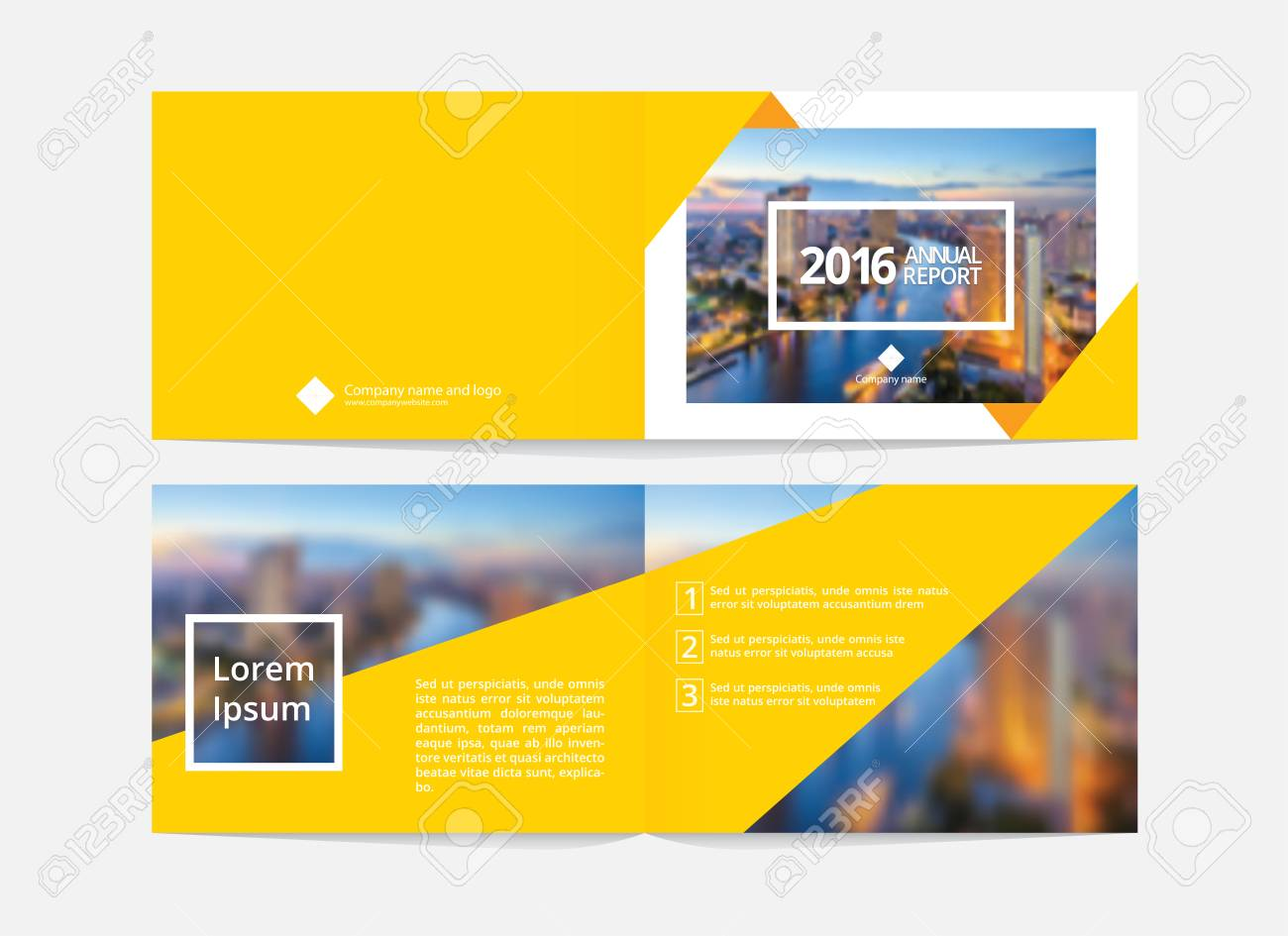 Cover Design And Inner Layout Template For Annual Report Or Catalog