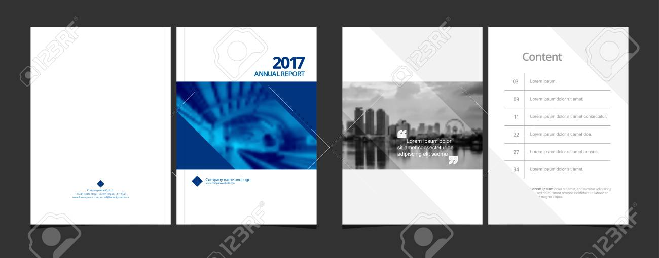 cover design and content page template for corporate business