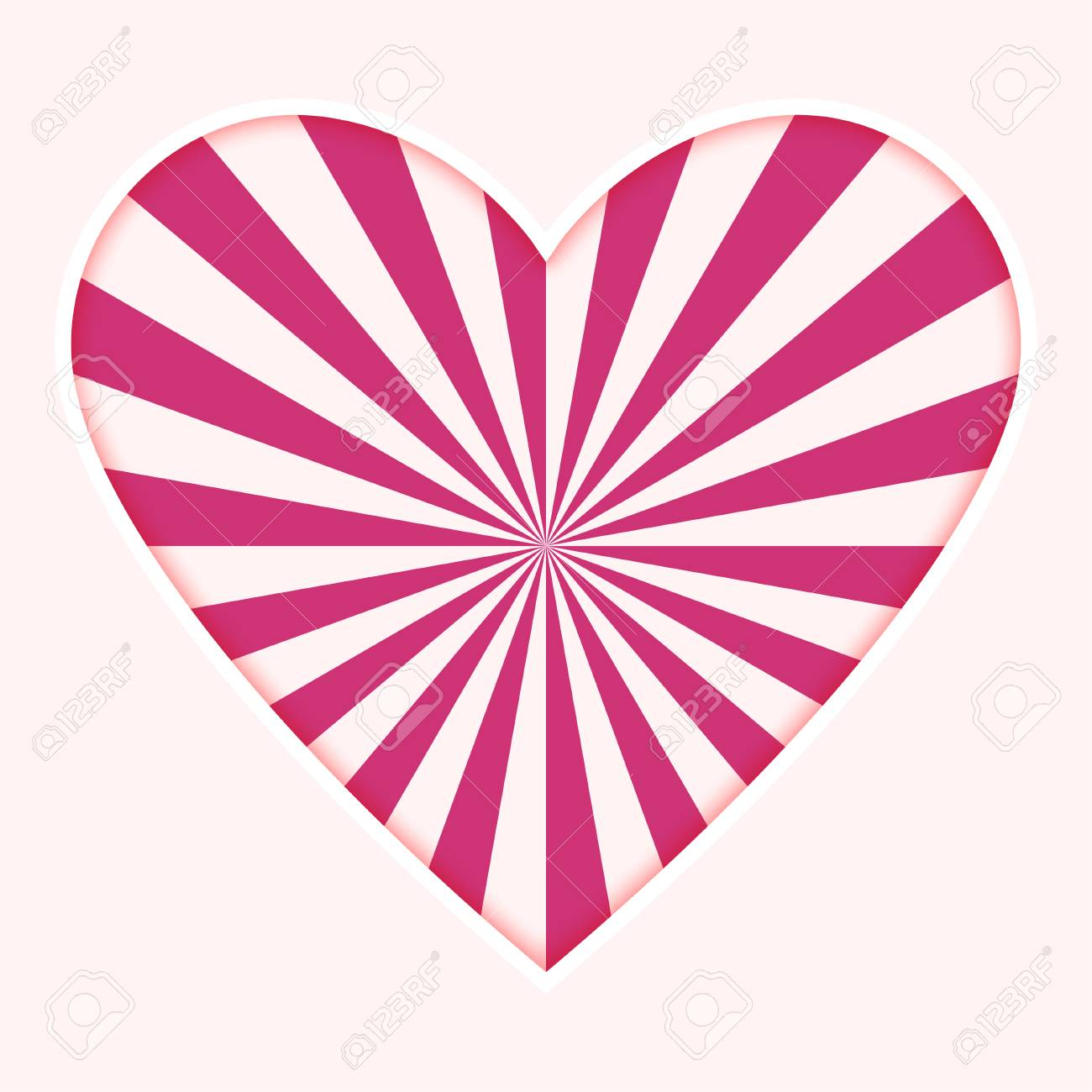 sun ray heart valentine s day background design sweet pink two rh 123rf com sun ray vector tutorial sun ray vector art
