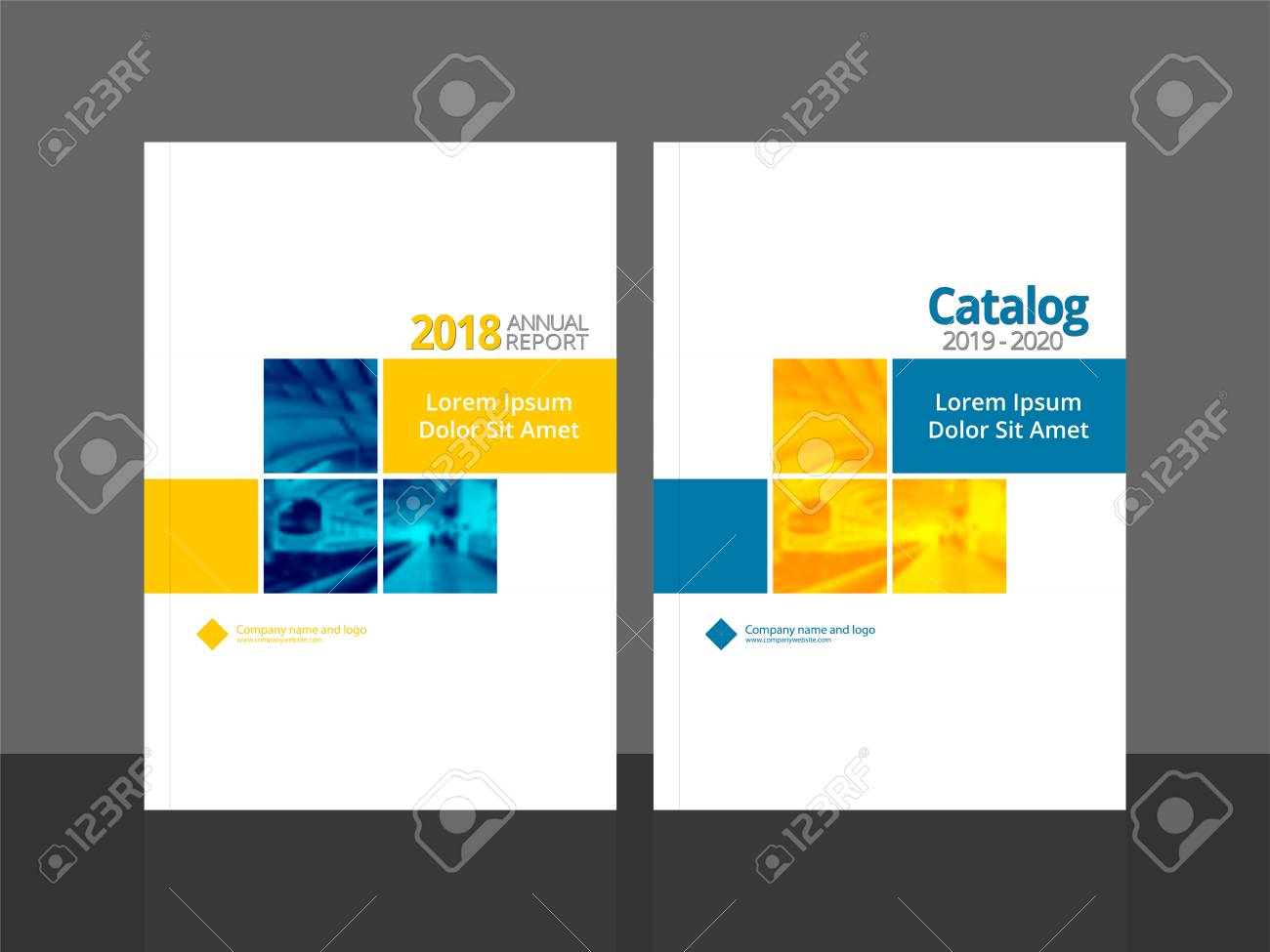 Corporate cover design for annual report and business catalog,