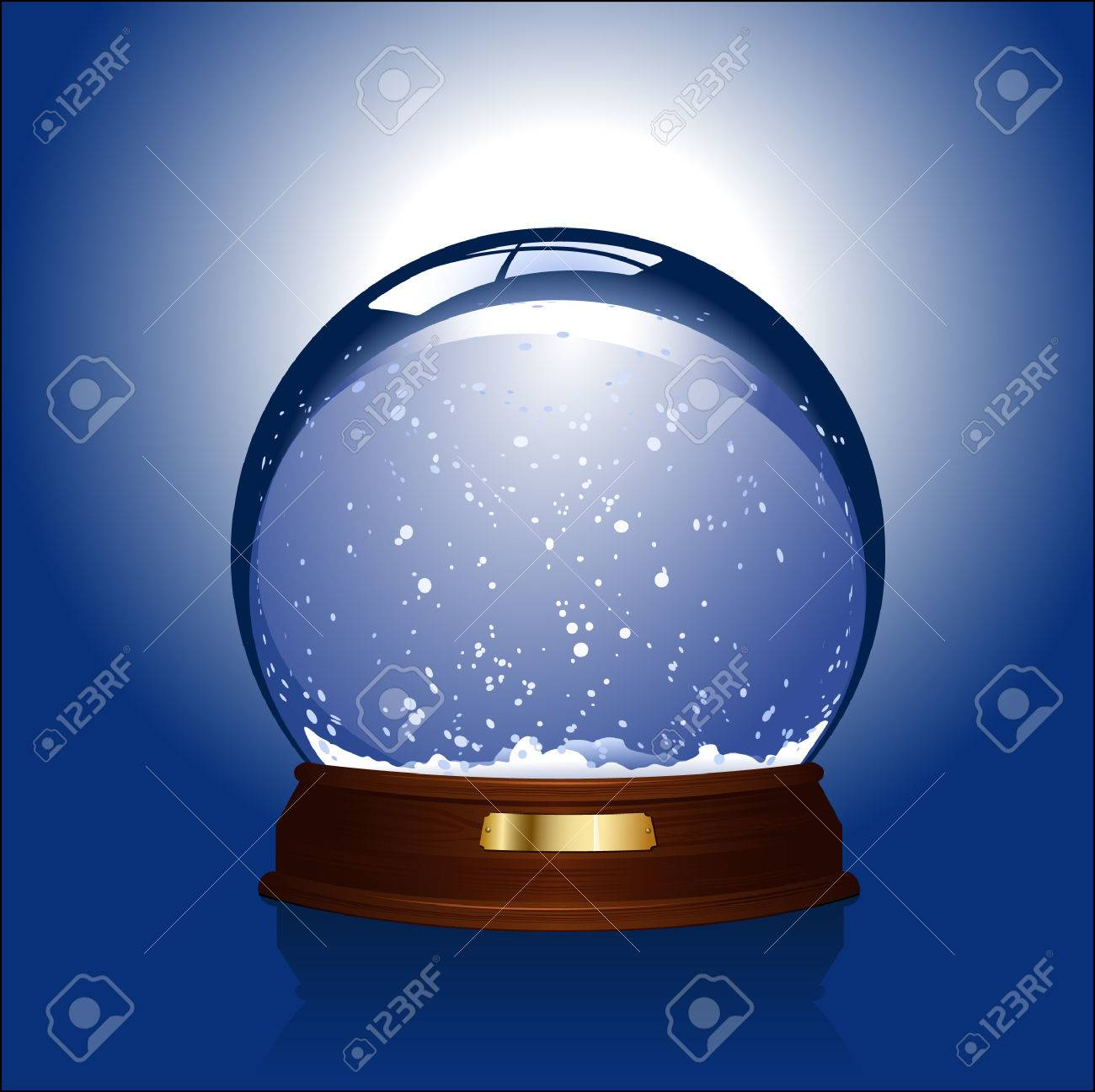 realistic illustration of an empty snow-globe - customize with your own object! - 3400339