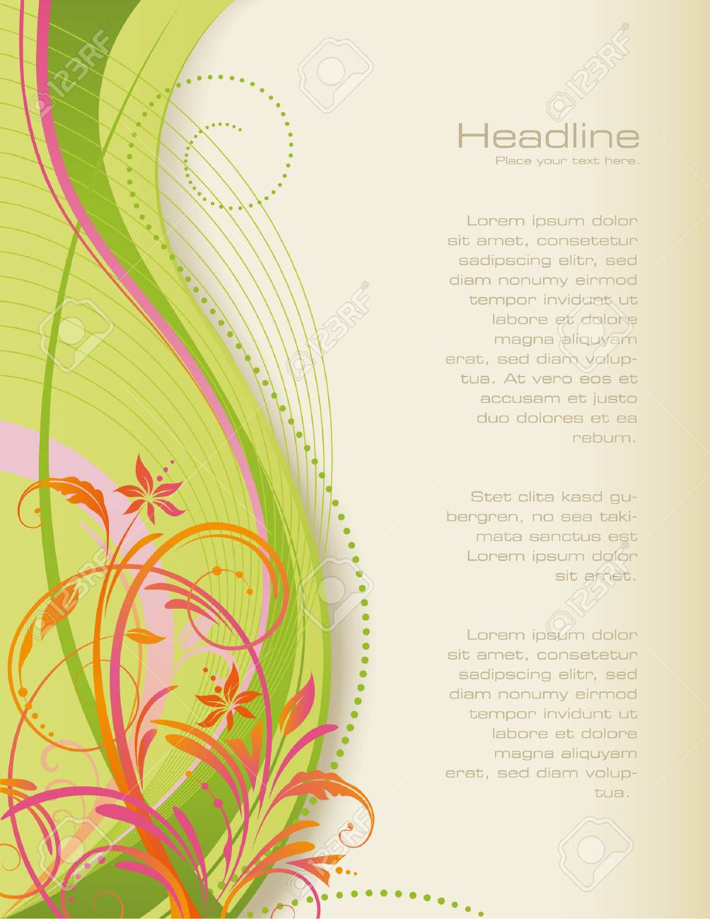 floral background Stock Vector - 4705664