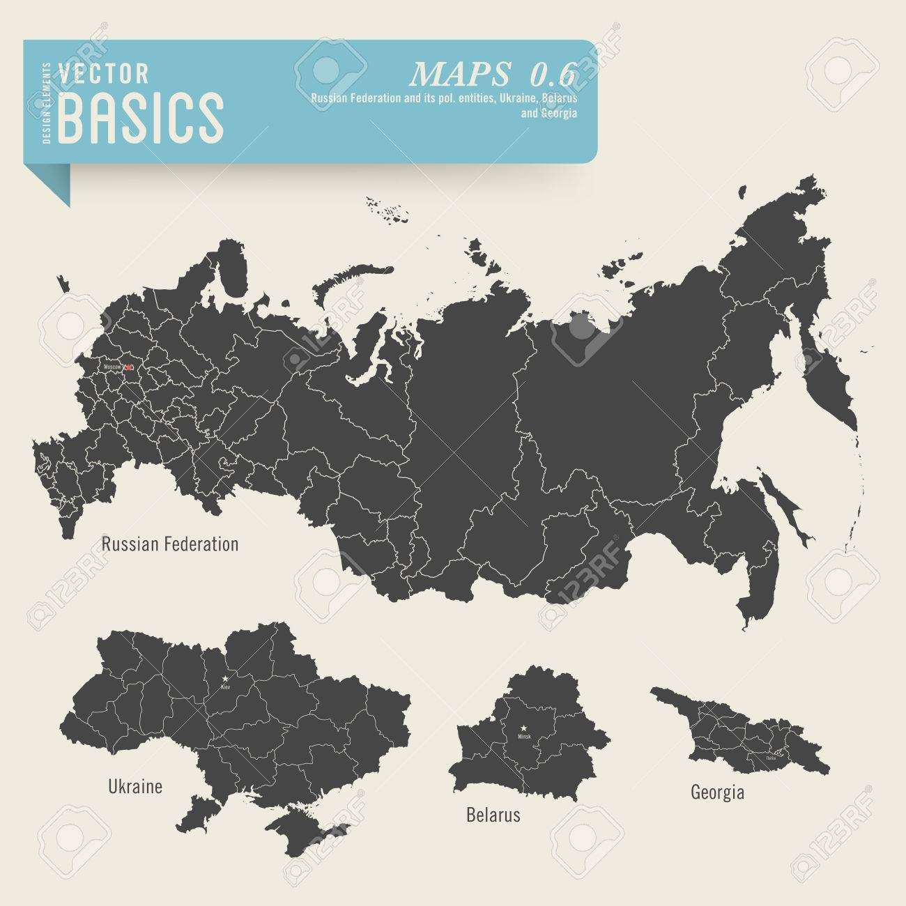 Maps Of The Russian Federation Ukraine Belarus And Georgia - Georgia map ukraine