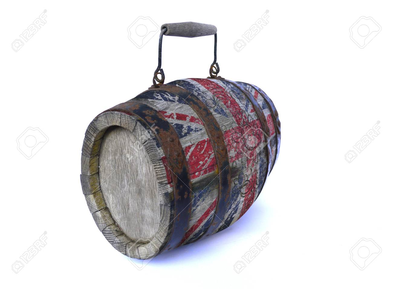 Flag Of England On An Old Wooden Barrel Stock Photo Picture And Royalty Free Image Image 104503435
