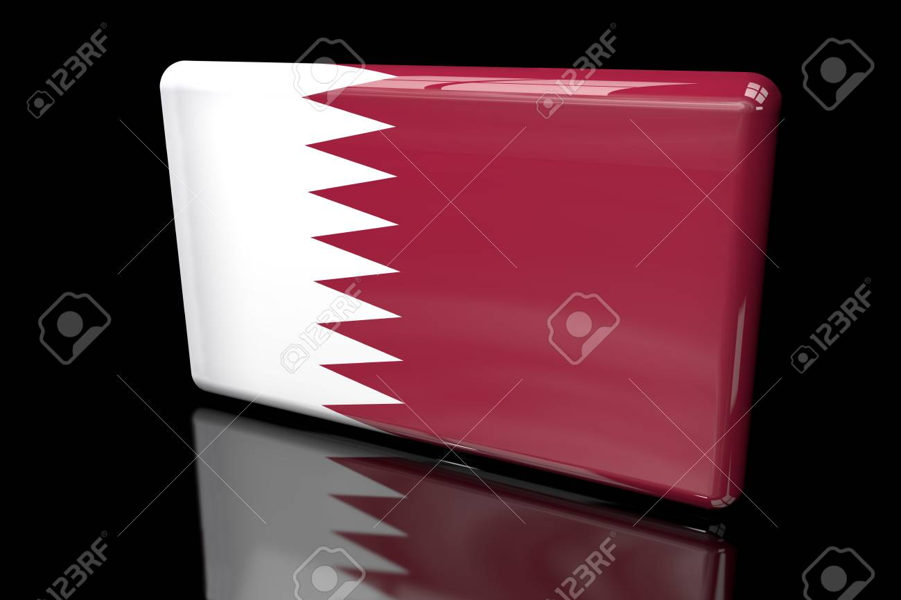 Flag of Qatar 3D volumetric
