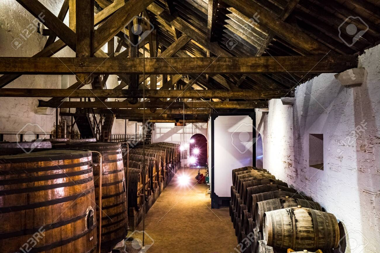 View on Wine cellar used to age Port wine in Port, Portugal - 142709905