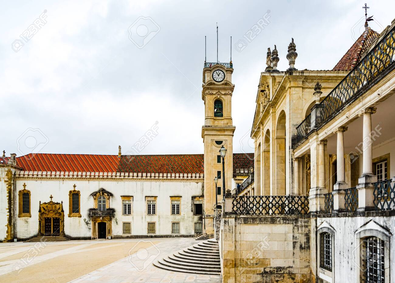 View on old buildings of the University of Coimbra, Portugal - 142709842
