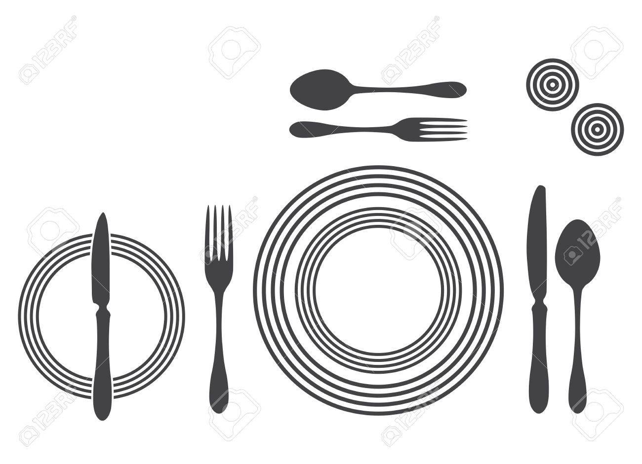 Etiquette Proper Table Setting Stock Vector - 17302514  sc 1 st  123RF.com & Etiquette Proper Table Setting Royalty Free Cliparts Vectors And ...
