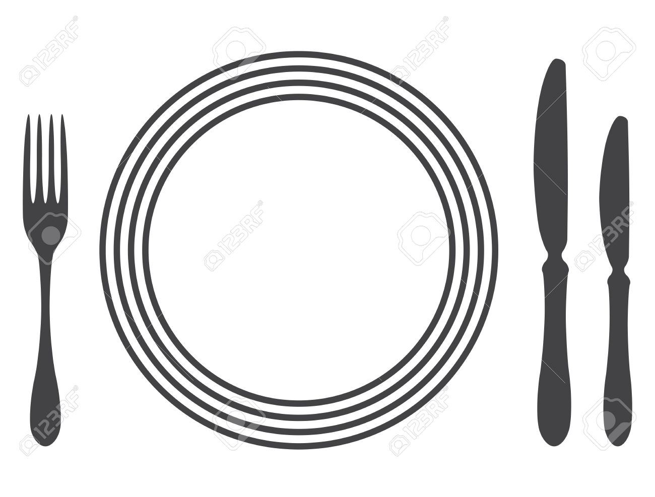 Etiquette Proper Table Setting Stock Vector   17302510