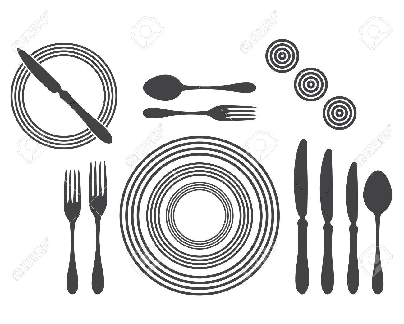 Etiquette Proper Table Setting Stock Vector - 17302521  sc 1 st  123RF.com & Etiquette Proper Table Setting Royalty Free Cliparts Vectors And ...
