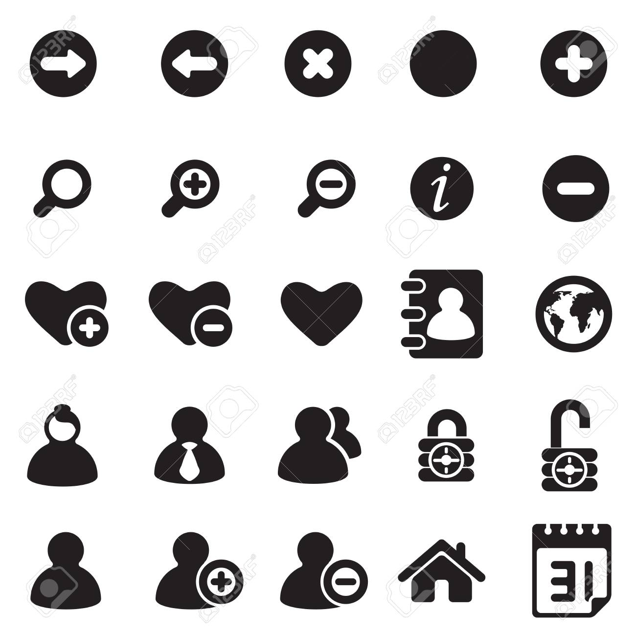 universal icons for web Stock Vector - 18058498