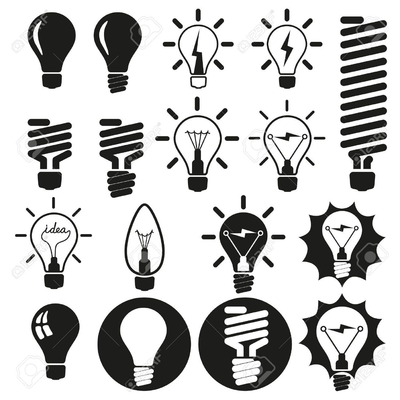 Light bulbs Bulb icon set - 18399294