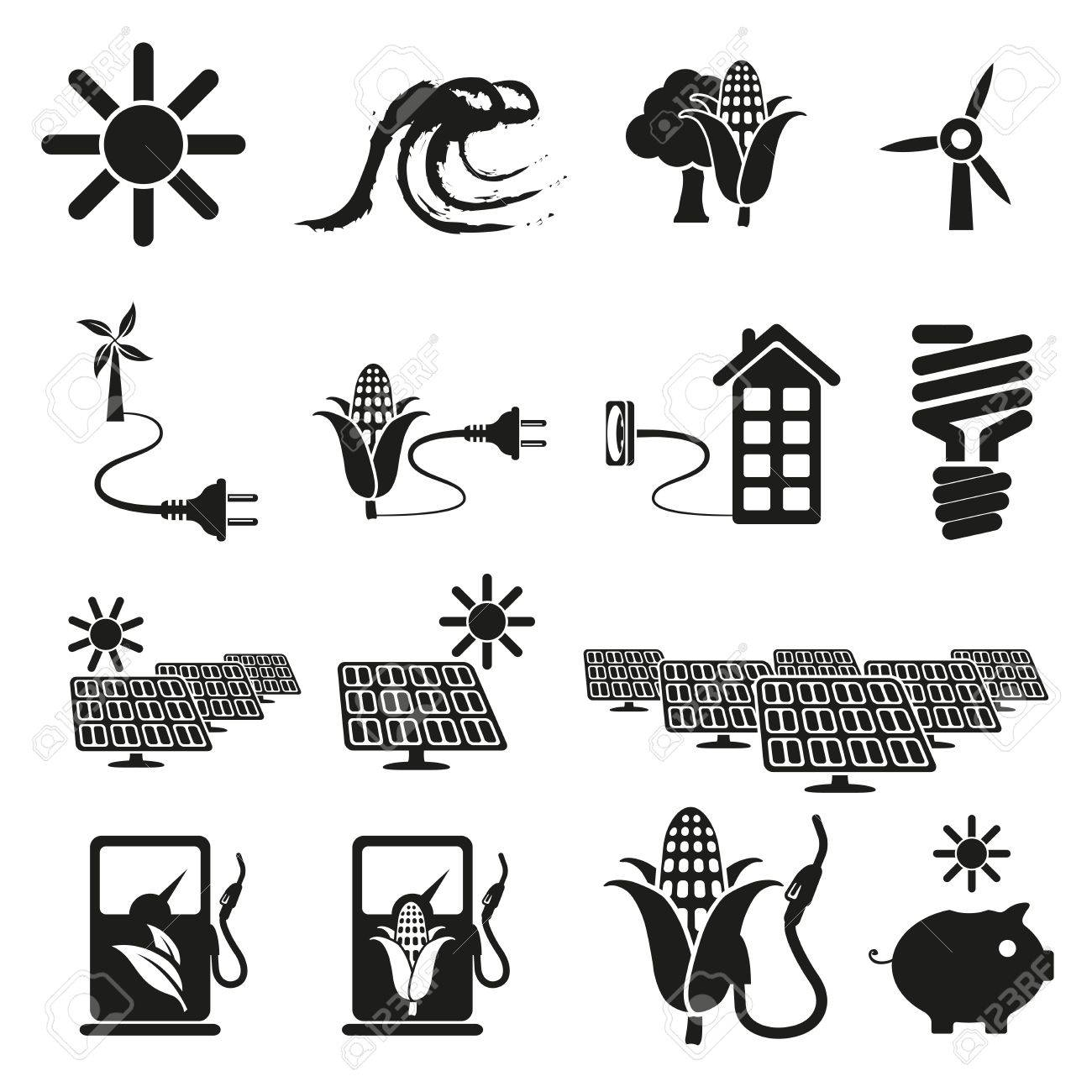 Energy and resource icon set Stock Vector - 18399514