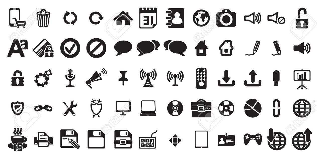 universal web icons set Stock Vector - 18399595