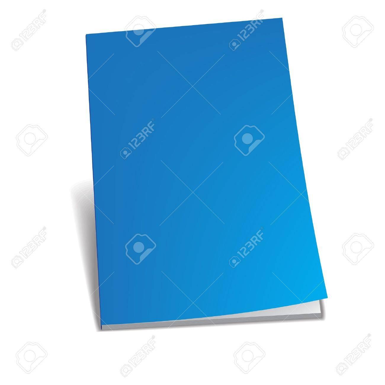 Empty blue brochure Stock Vector - 18984000