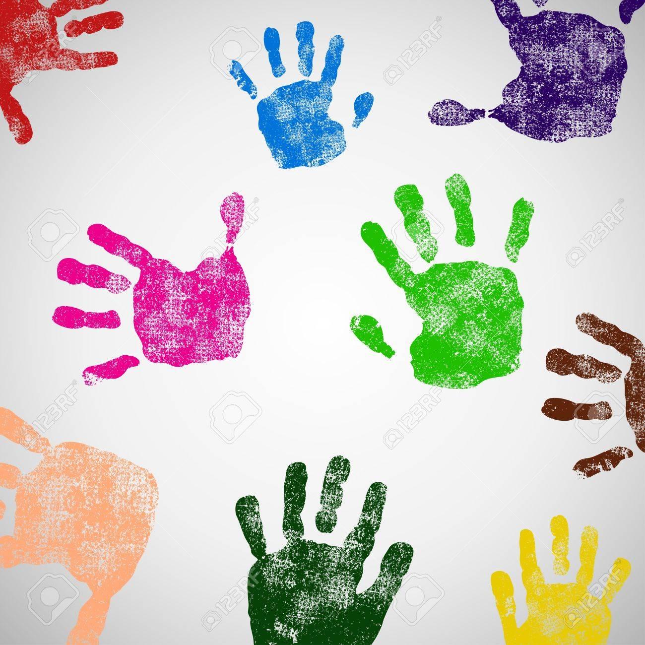 Colored Hand Print icon Stock Vector - 19246254