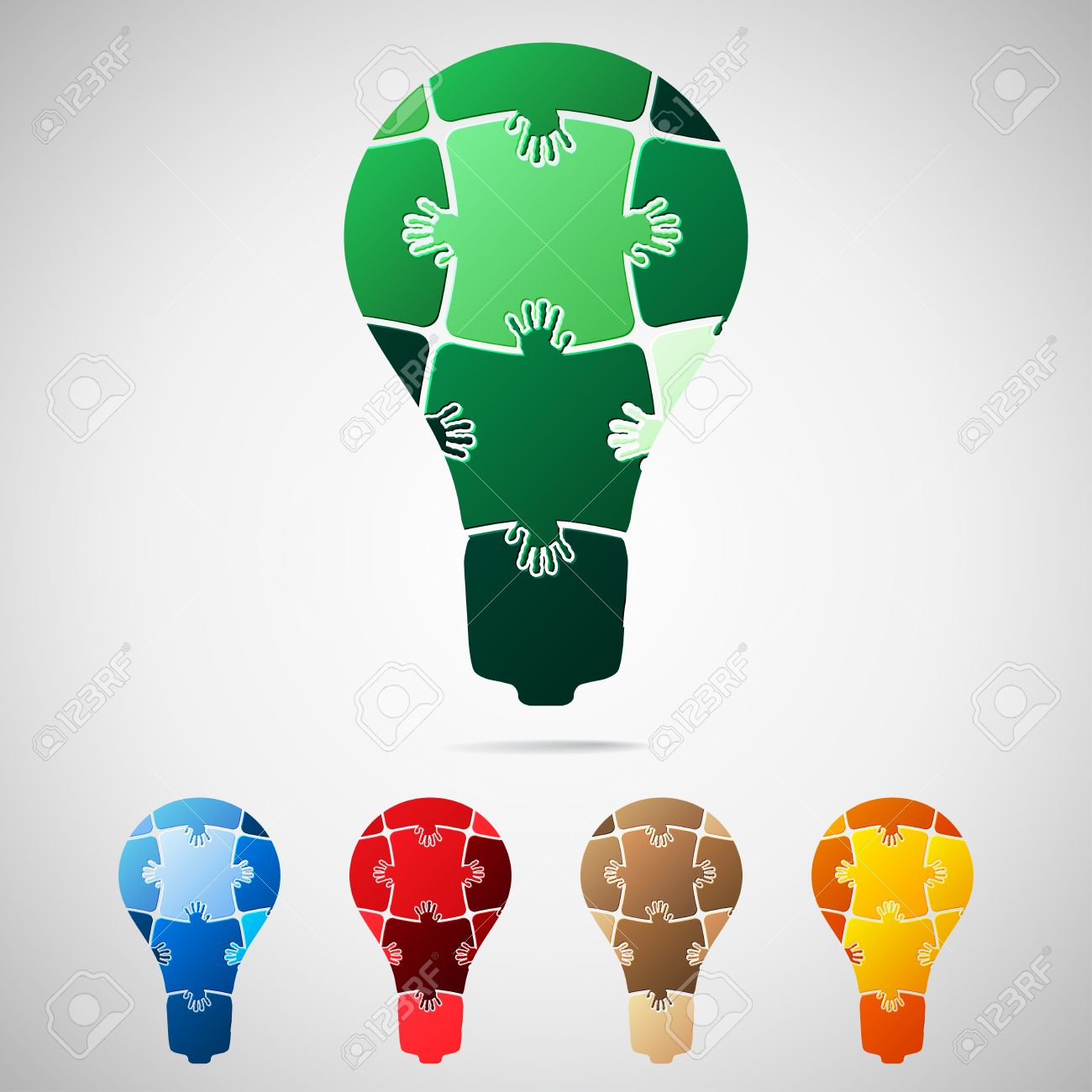 Lamp from puzzle pieces Stock Vector - 19358218