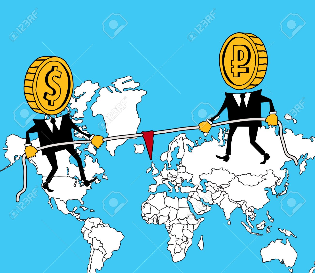 Russia and america pull the rope on world map royalty free cliparts russia and america pull the rope on world map stock vector 27383185 gumiabroncs Image collections