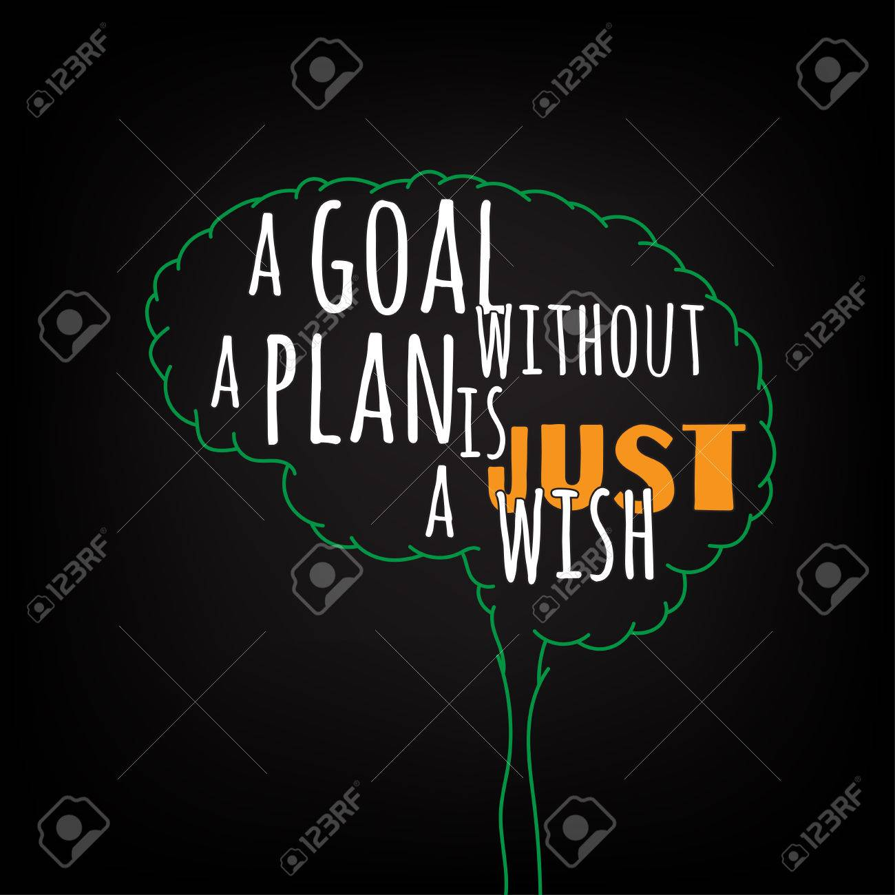 a goal without a plan is just a wish motivation clever ideas in the brain poster