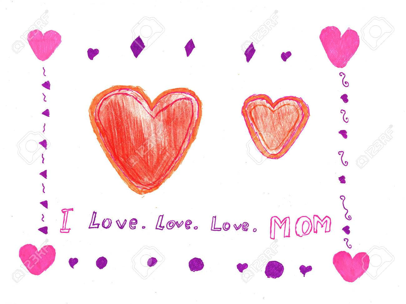 Child drawing mothers dayeeting cards stock photo picture and child drawing mothers dayeeting cards stock photo 39658070 m4hsunfo