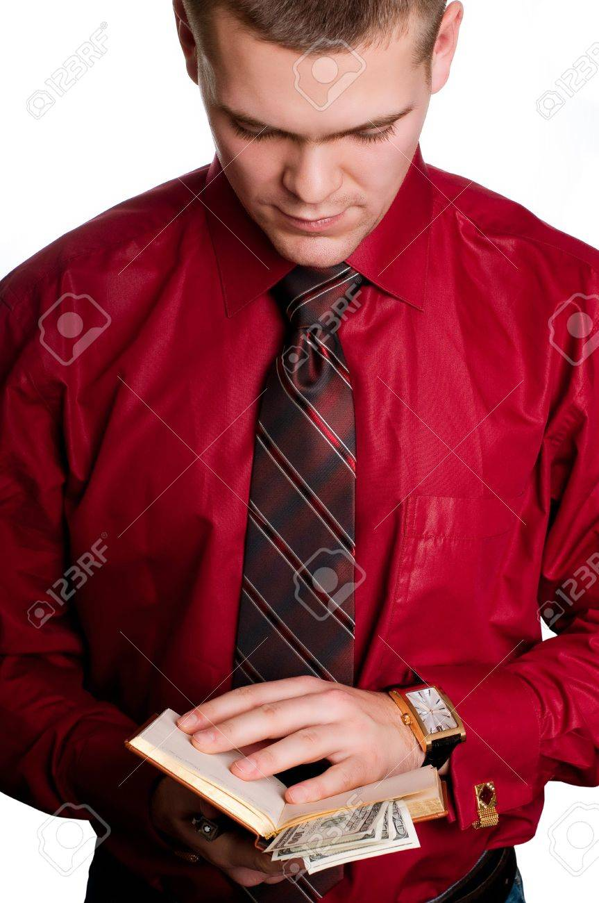 Businessman with  organizer in hands Stock Photo - 13304490