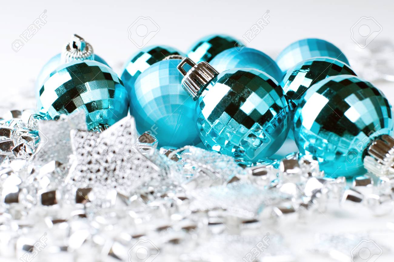 Christmas blue baubles Stock Photo - 17247807