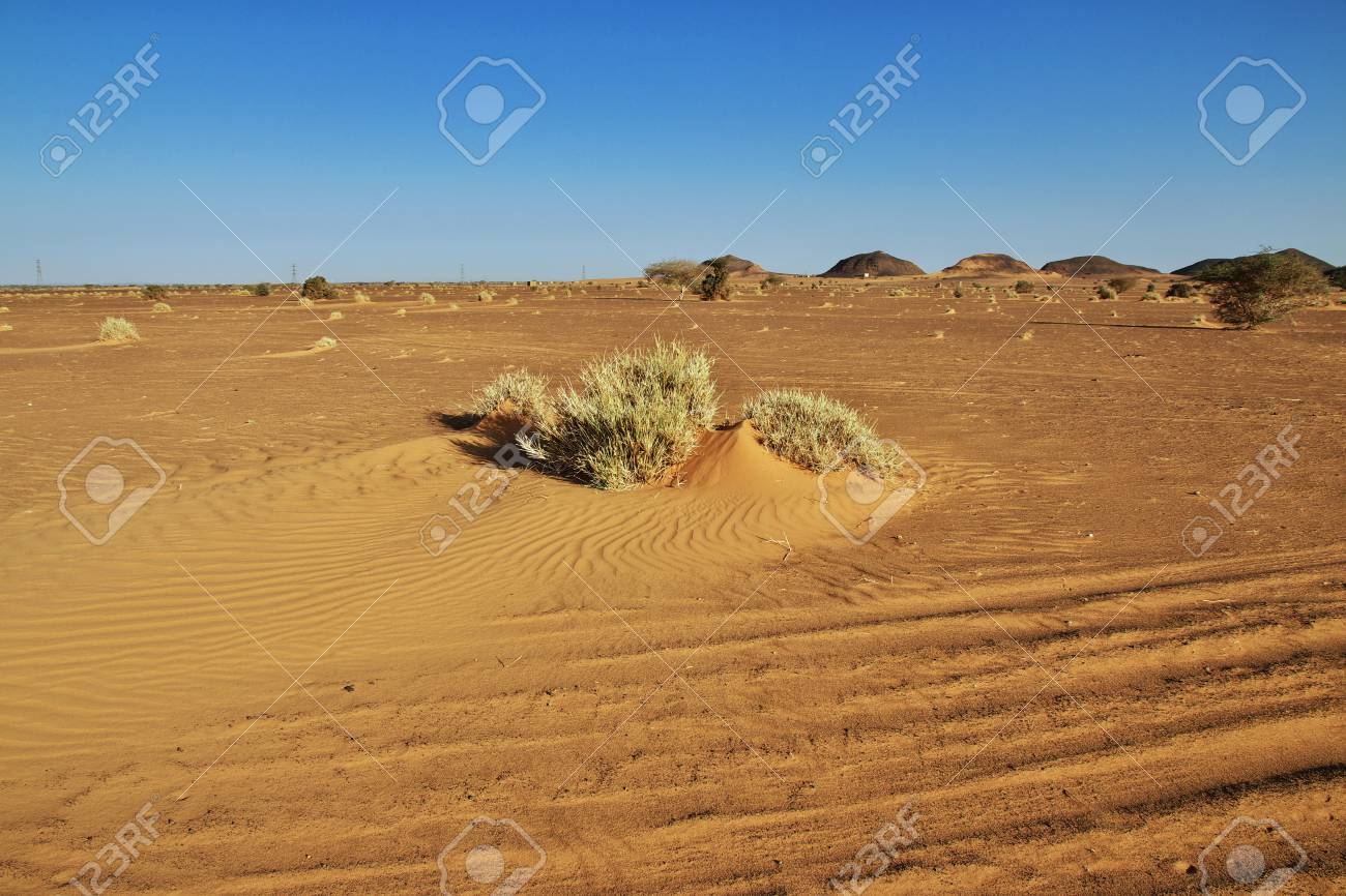 The ancient pyramids of Meroe in Sudan's desert - 122179322