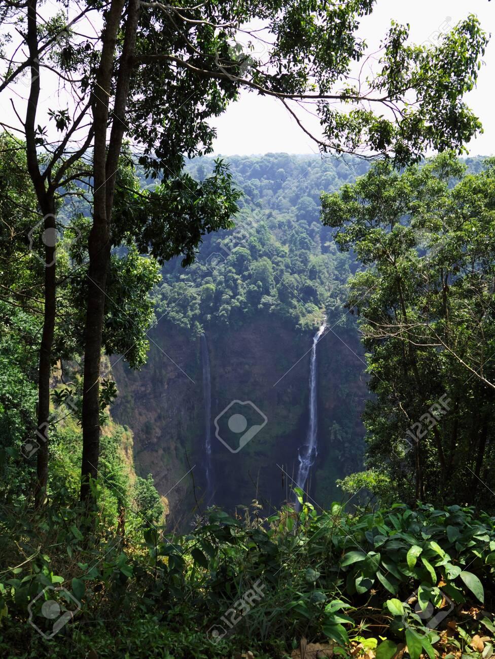 The waterfall in Jungle, Laos - 127029311