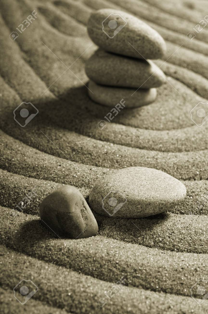 Garden of stones, zen-like, tranquil, spa images Stock Photo - 4166107