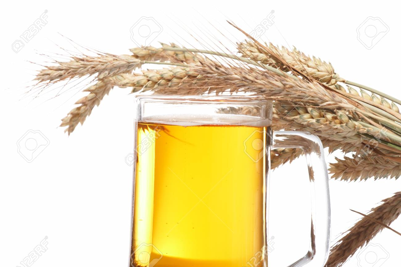 Glass of beer with grain Stock Photo - 8353957