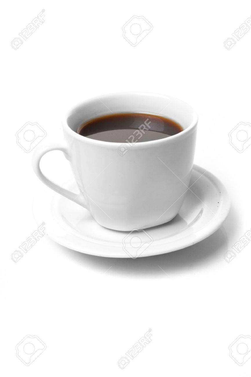 Perfect white coffee cup   on white Stock Photo - 8532426