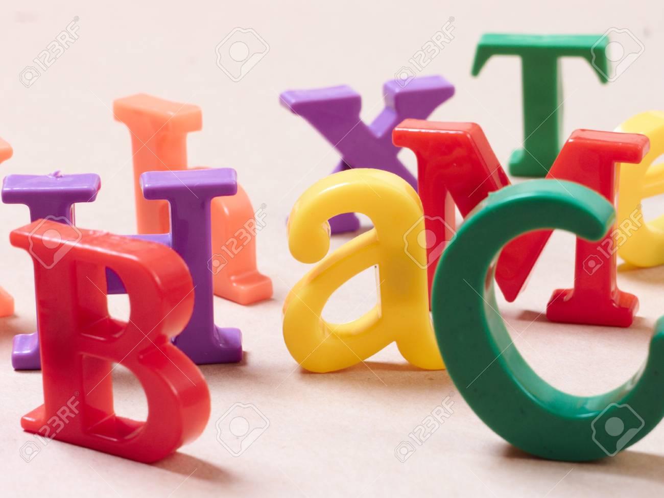Plastic alphabet letters Stock Photo - 16288159
