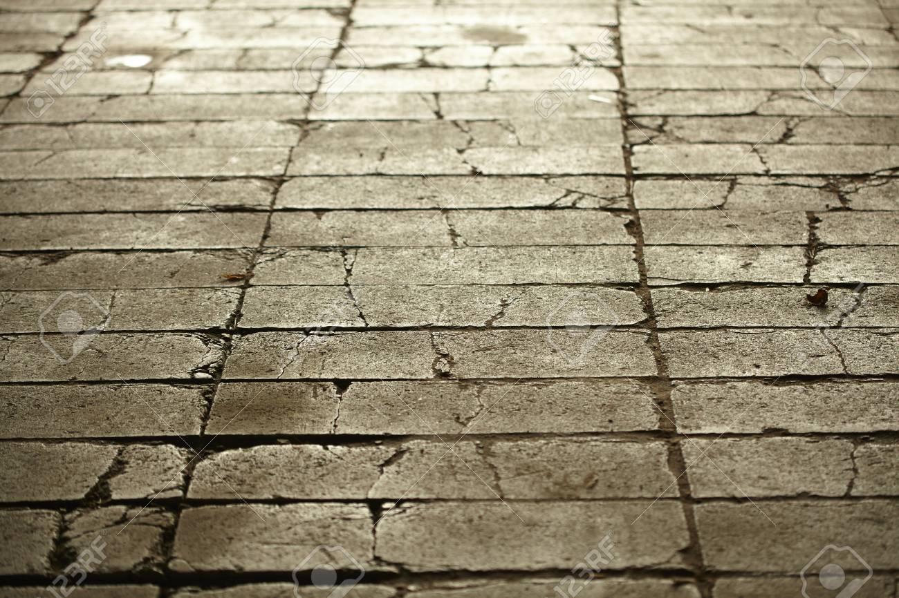 Texture di grigio piastrelle pavimentazione suolo città foto