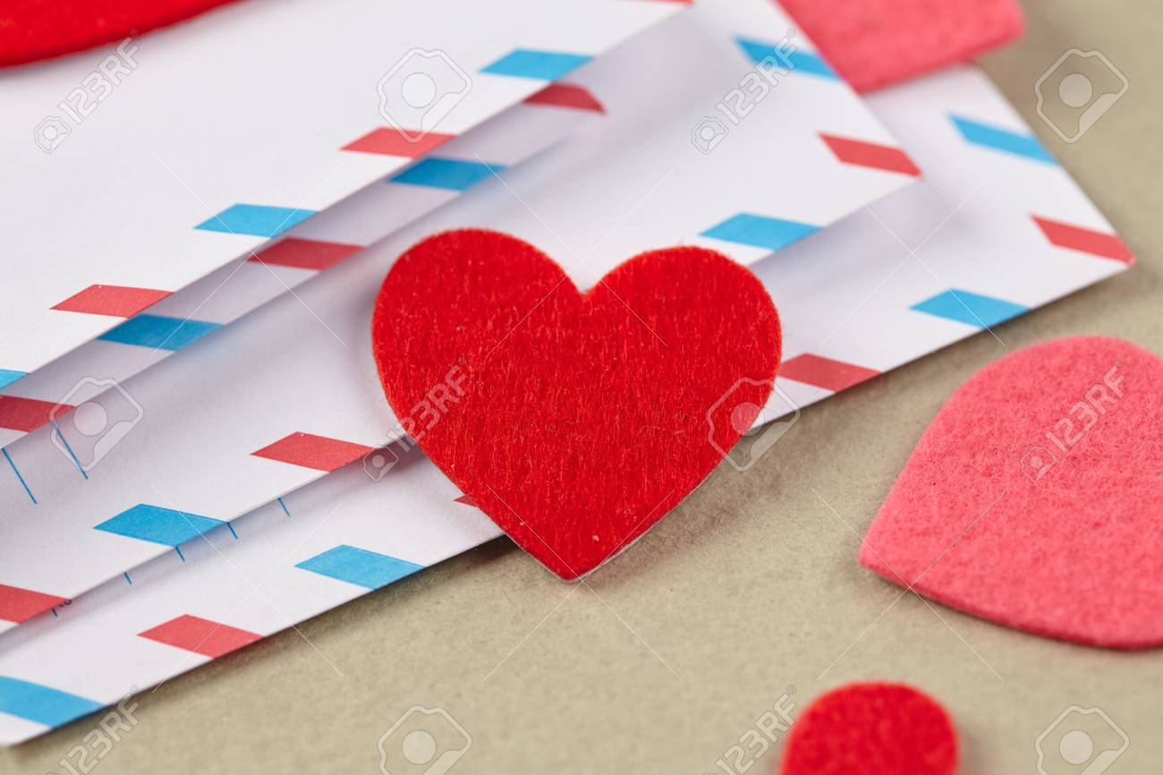 Envelopes For Valentine S Day Stock Photo Picture And Royalty Free
