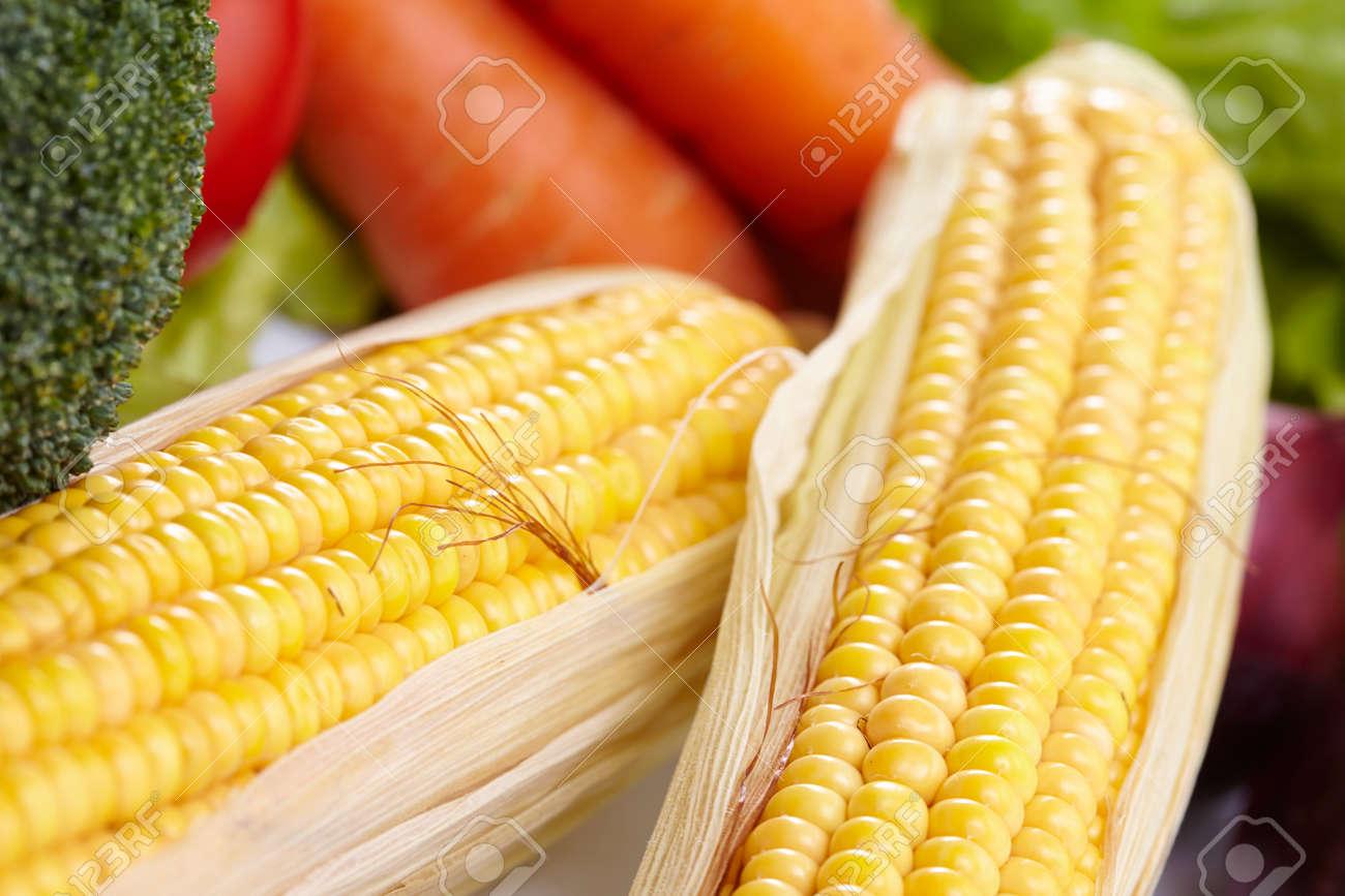 fresh vegetables on the white background - 159007062
