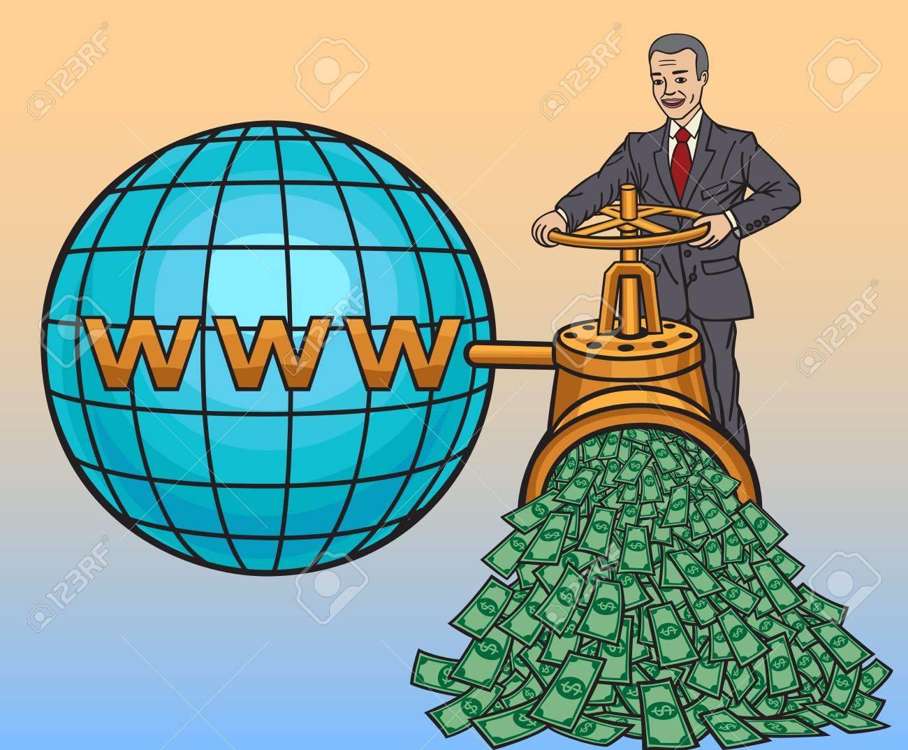 Online business Stock Vector - 20990490