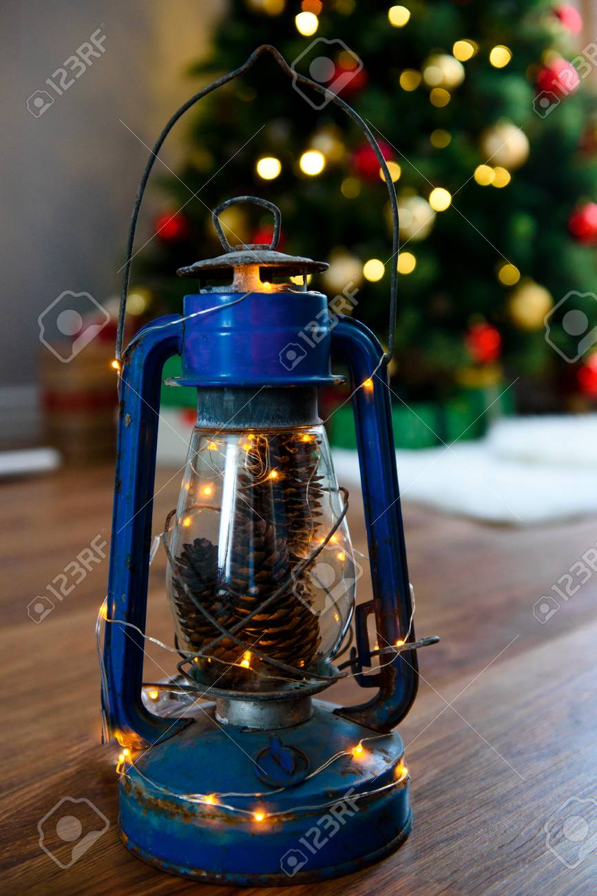New Year And Christmas Decorations A Charming Traditional Lamp Stock Photo Picture And Royalty Free Image Image 109646109