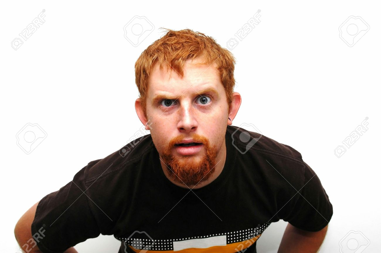 Man With Odd Look Stock Photo - 2316476