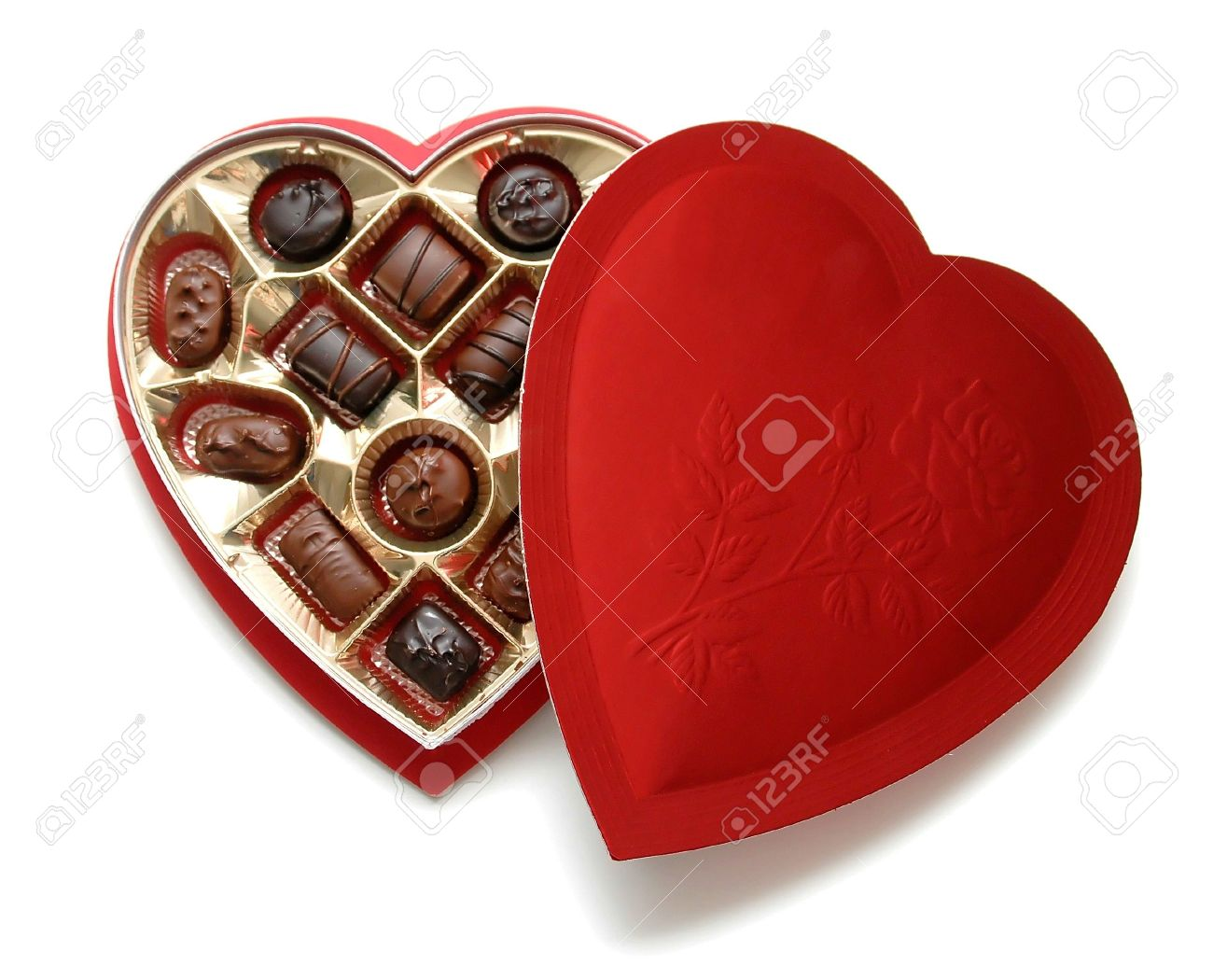 Heart Shaped Box Of Chocolates Stock Photo, Picture And Royalty ...