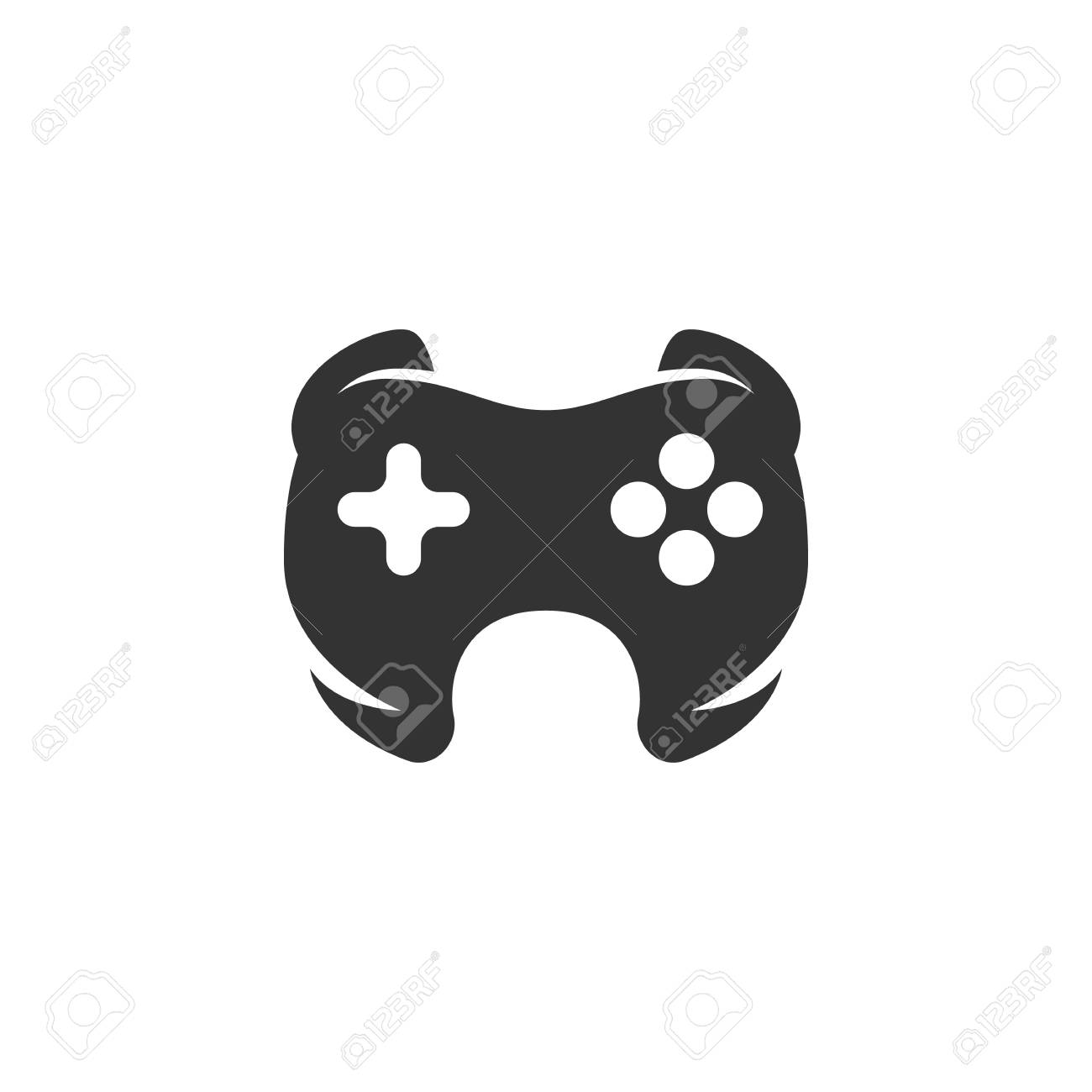Vector Game Icon Isolated On A White Background Game Logo In
