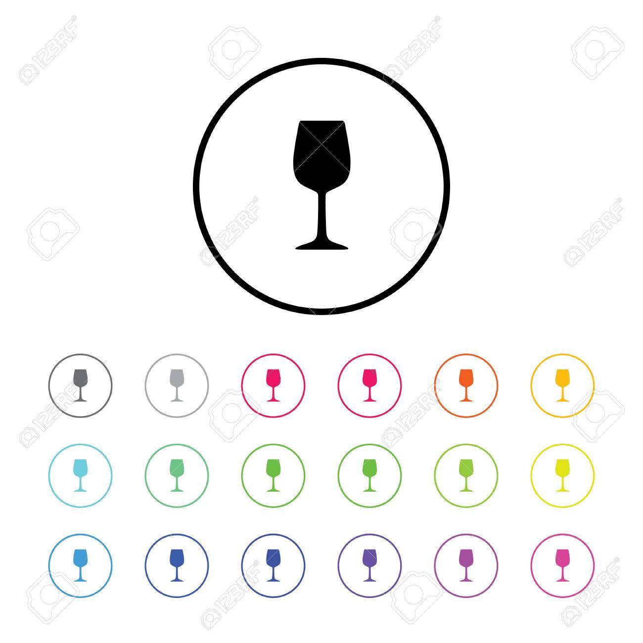 アイコン イラスト 18 カラー バリエーション ワイングラスしますの