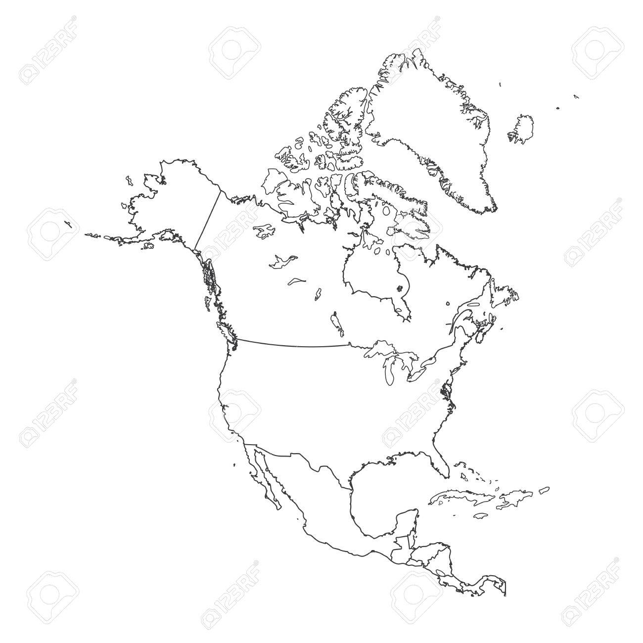 An Outline on clean background of the continent of North America on map of ocean sketch, map of hawaii sketch, map of kentucky sketch, map of bahrain sketch, map of new france sketch, africa map sketch, map of caribbean sketch, map of hong kong sketch, map of zambia sketch, map of world sketch, map of new jersey sketch, usa map sketch, map of mauritius sketch,