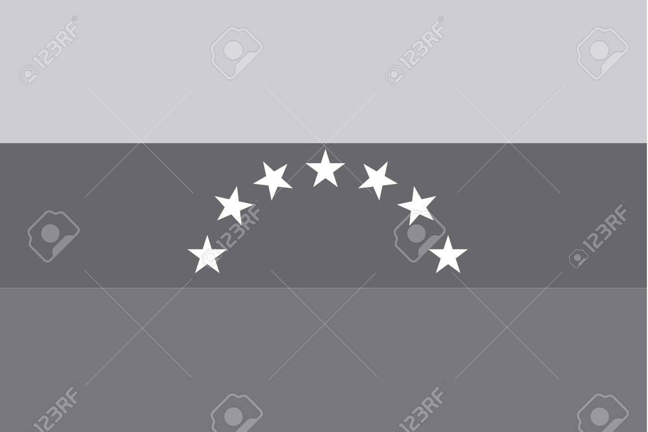 una bandera de escala de grises ilustrado del pas de venezuela foto de archivo