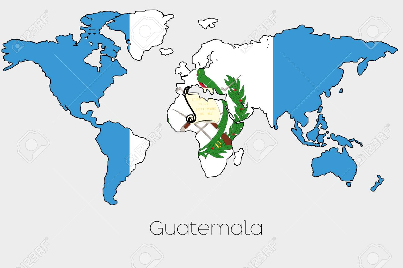 Picture of: A Flag Illustration Inside The Shape Of A World Map Of The Country Stock Photo Picture And Royalty Free Image Image 44475255
