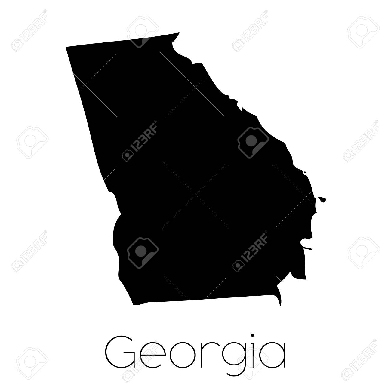An Illustrated Shape of the State of Georgia on wisconsin topographical map key, georgia beaches map, georgia map cities ga, georgia county map, georgia's manufacturing key, georgia colony towns, georgia colony map, georgia capital map, georgia map bodies of water, georgia pine mountain trail map, georgia state map, georgia state location,