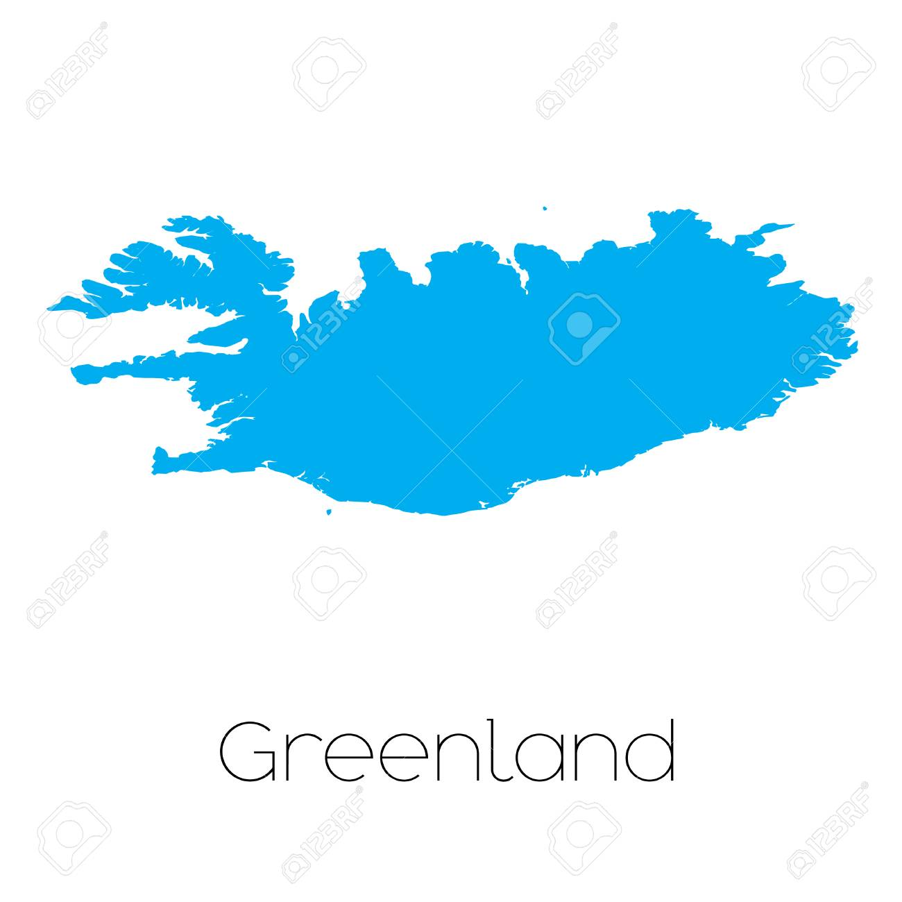 A Blue shape with name of the country of Greenland Stock Photo - 44915965