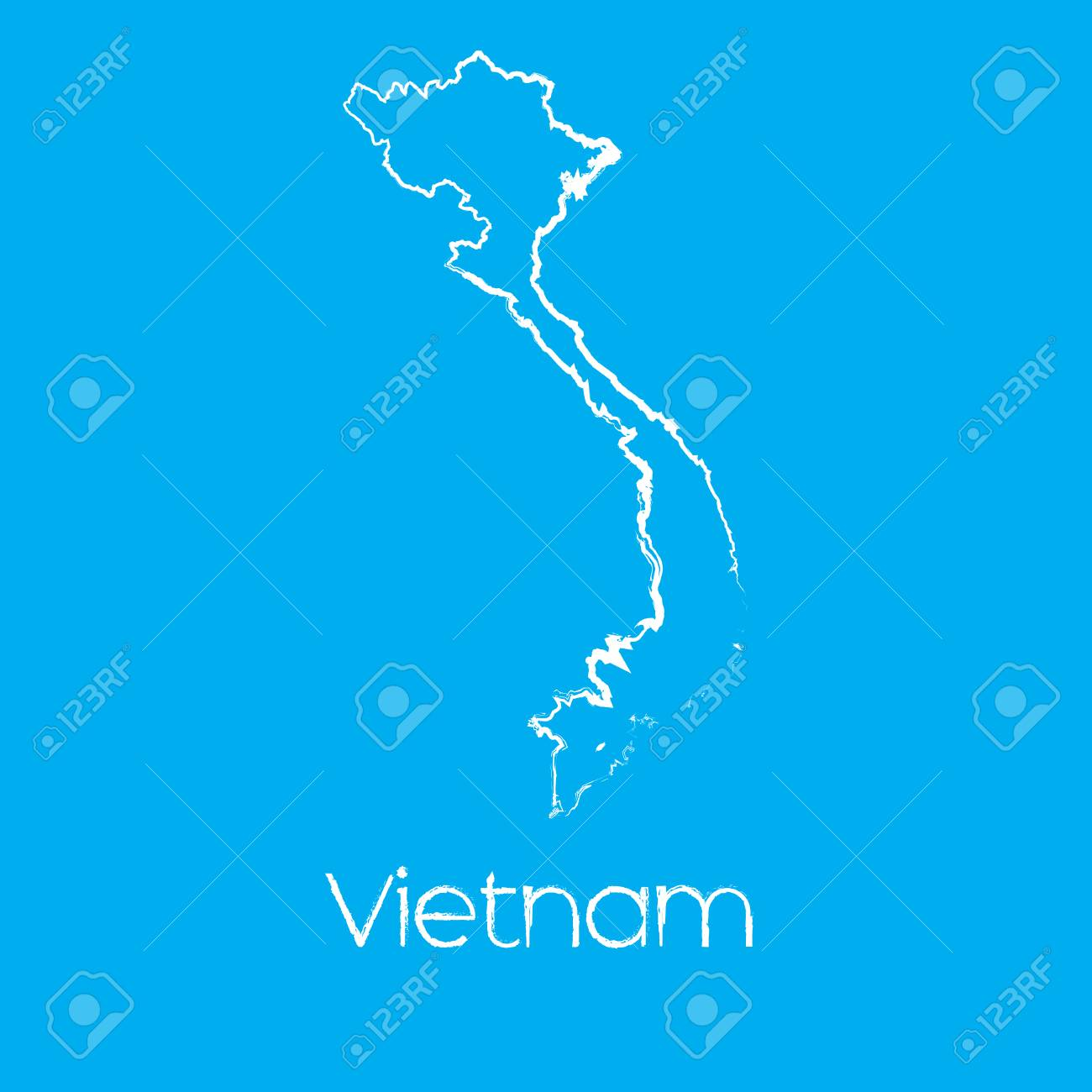 A Map Of The Country Of Vietnam Stock Photo Picture And Royalty Free Image Image 44910933