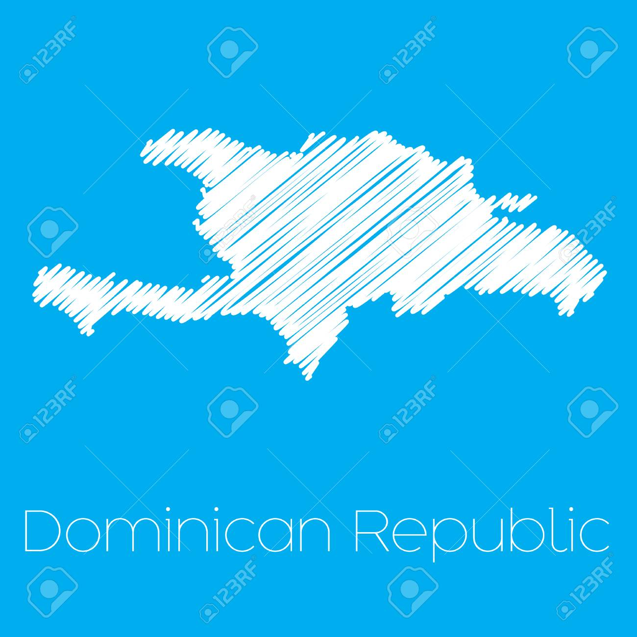 Dominican Republic Map on