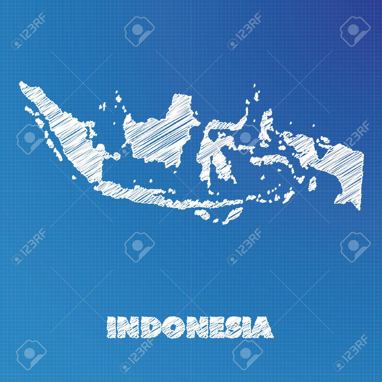 A blueprint map of the country of indonesia stock photo picture and a blueprint map of the country of indonesia stock photo 45667930 malvernweather Images